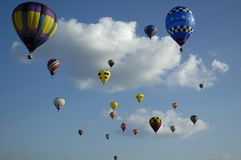 Up Up and away. Louisiana Balloon Festival Stock Photo