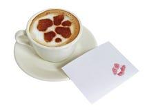 ?up van koffie-cappuccino's Stock Foto's