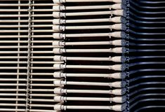 Up view of Abstract Steel pipes for wiring in buildings royalty free stock photos