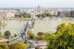 Up View of Chain Bridge Stock Images