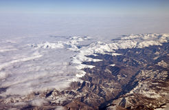 Up view of mountains Stock Image