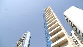 Up view of new high rises in Mumbai. stock video footage
