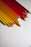 Up-view of pencils background Royalty Free Stock Images