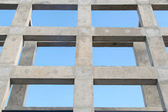 Up view Pillar and beam structure for construction abstract background Stock Photos