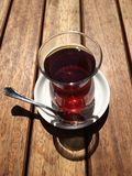 Up view of tea. Top view of Traditional Turkish tea Stock Photography