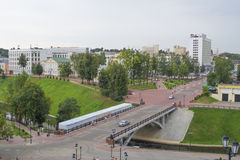 Up view on Vitebsk city Royalty Free Stock Images