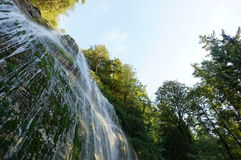 Up the Waterfall. Looking up at a waterfall on a side angle Royalty Free Stock Photos