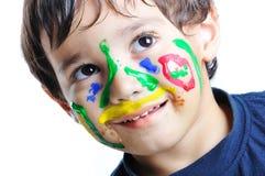 Upaćkana twarz, dzieciństwo Obraz Royalty Free
