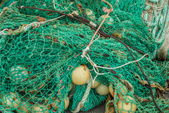 Upaćkana zielona sieć rybacka Obrazy Royalty Free