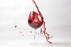 Upaćkany czerwonego wina pluśnięcie zdjęcie royalty free