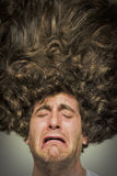 Upaćkany Kędzierzawy włosy Zdjęcie Stock