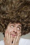 Upaćkany Kędzierzawy włosy Obraz Stock