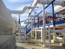 Upałów exchangers w rafinerii Gorącej benzyny lotniczy cooler lotniskowych tła Bequia karaibskich e grenadyn międzynarodowy wysp  Fotografia Royalty Free