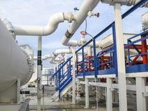 Upałów exchangers w rafinerii Gorącej benzyny lotniczy cooler lotniskowych tła Bequia karaibskich e grenadyn międzynarodowy wysp  Fotografia Stock