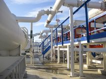 Upałów exchangers w rafinerii Gorącej benzyny lotniczy cooler lotniskowych tła Bequia karaibskich e grenadyn międzynarodowy wysp  Obraz Royalty Free