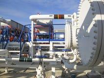 Upałów exchangers w rafinerii Gorącej benzyny lotniczy cooler lotniskowych tła Bequia karaibskich e grenadyn międzynarodowy wysp  Zdjęcia Stock