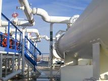 Upałów exchangers w rafinerii Gorącej benzyny lotniczy cooler lotniskowych tła Bequia karaibskich e grenadyn międzynarodowy wysp  Obraz Stock