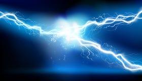 Upału oświetlenie Energia elektryczny rozładowanie również zwrócić corel ilustracji wektora ilustracja wektor