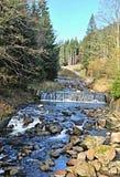 Upa flod ovanför Pec-fröskidan Snezkou Fotografering för Bildbyråer