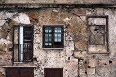 Upaćkana fasada stary budynek Zdjęcie Royalty Free