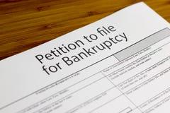 Upadłościowa petycja Fotografia Stock