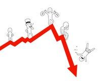 upadek Obraz Stock