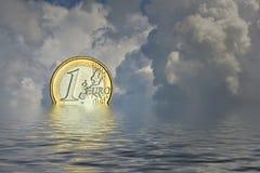 Upadek euro Obrazy Stock
