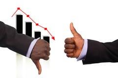 upadek konkurencji Zdjęcie Stock