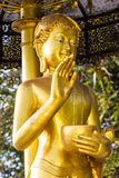 Upagupta dourado, estátua tailandesa da monge Foto de Stock