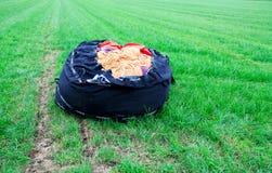 Upakowany gorące powietrze balon obraz royalty free