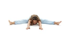 Upavistha konasana wide-angle seated forward bend Stock Images