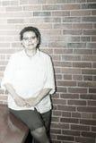 Upbeat Breast Cancer Survivor In Work Environment Stock Photo