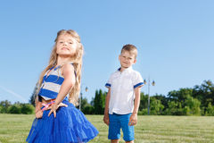 Upbeat children posing together Royalty Free Stock Image