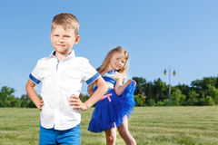 Upbeat children posing together Royalty Free Stock Images