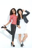 Upbeat girls posing at the camera Stock Photos