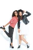 Upbeat girls posing at the camera Stock Image