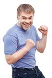 Upbeat man expressing positivity Stock Photography