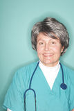Upbeat senior nurse royalty free stock image