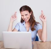 Upbeat successful young woman Royalty Free Stock Photos