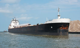 Upbound On The Cuyahoga River Royalty Free Stock Image