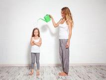 Upbringing child. Family royalty free stock photography