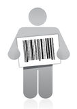Upc barcode and icon Stock Photo