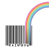 UPC barcode with  a rainbow Stock Photos