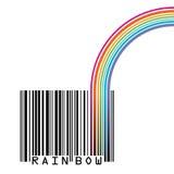 UPC barcode with  a rainbow Stock Photos