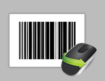 Upc code and Wireless computer mouse Stock Image