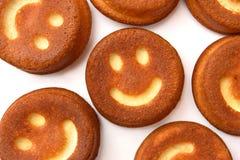 Upcakes de ¡ de Ð avec des sourires Images libres de droits