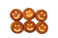 Upcakes del ¡de Ð con sonrisas Imágenes de archivo libres de regalías