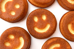 Upcakes del ¡ di Ð con i sorrisi Immagini Stock Libere da Diritti