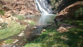 Upclose da cachoeira Fotos de Stock Royalty Free