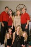 Upclose de verticale de famille de Joyeux Noël photo stock